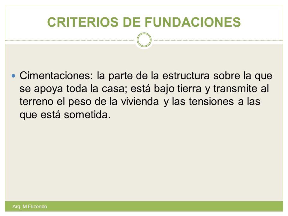 CRITERIOS DE FUNDACIONES