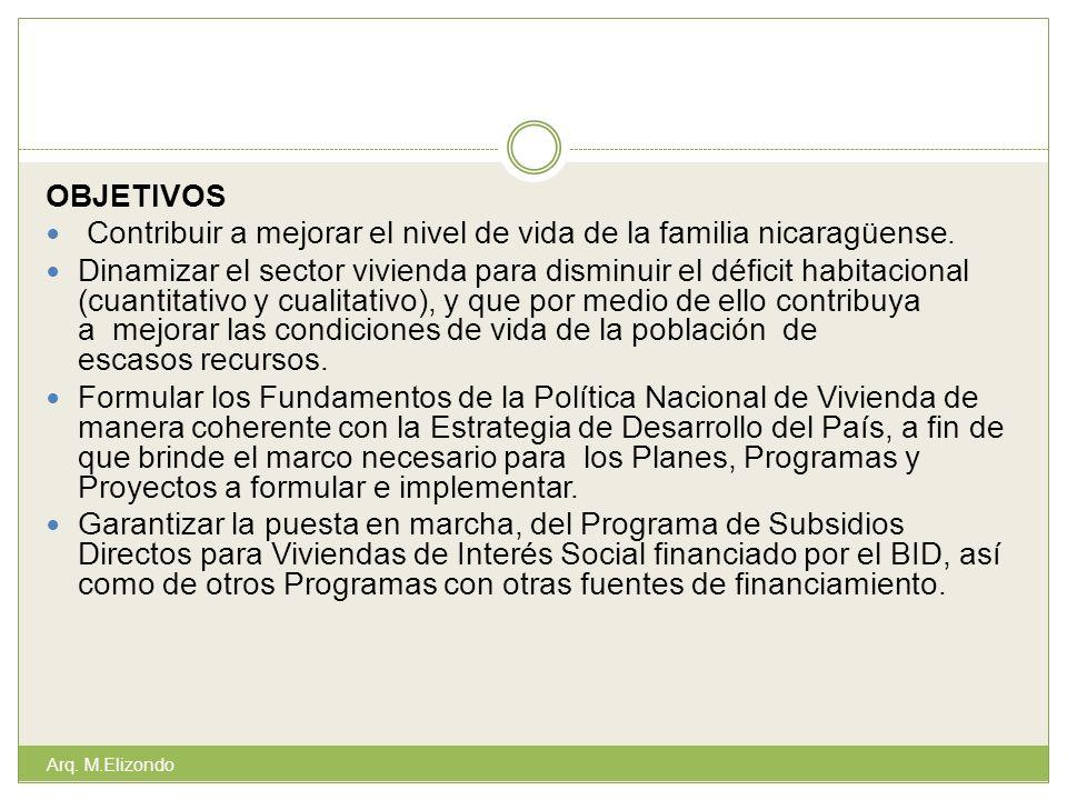 Contribuir a mejorar el nivel de vida de la familia nicaragüense.