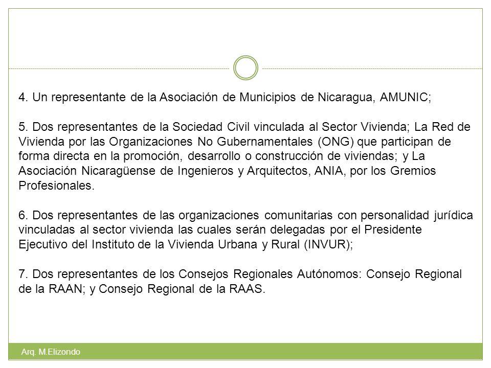 4. Un representante de la Asociación de Municipios de Nicaragua, AMUNIC;