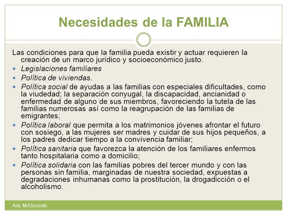 Necesidades de la FAMILIA