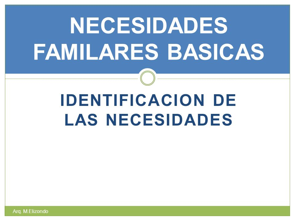 NECESIDADES FAMILARES BASICAS
