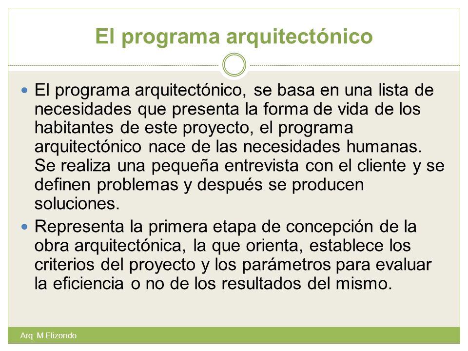 El programa arquitectónico