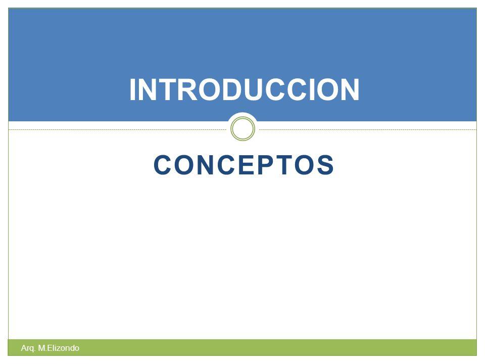 INTRODUCCION Conceptos Arq. M.Elizondo