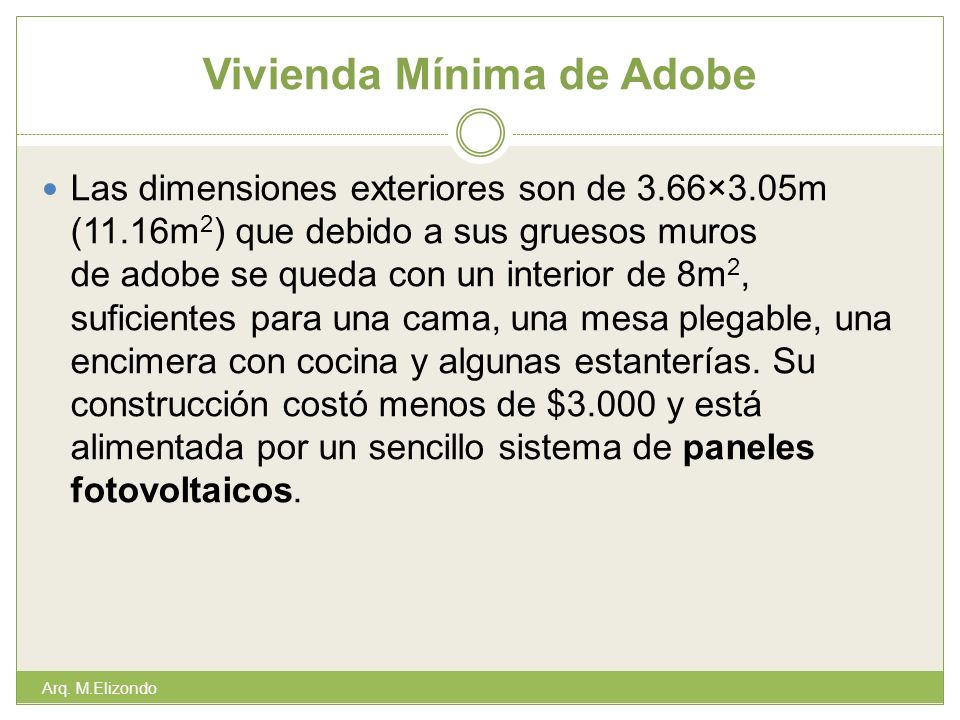 Vivienda Mínima de Adobe