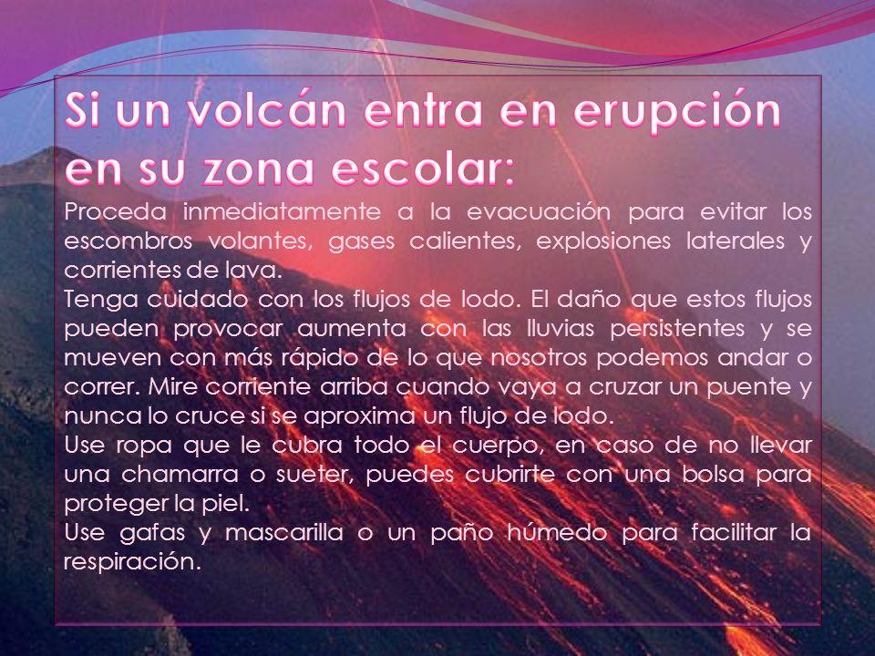 Si un volcán entra en erupción en su zona escolar: