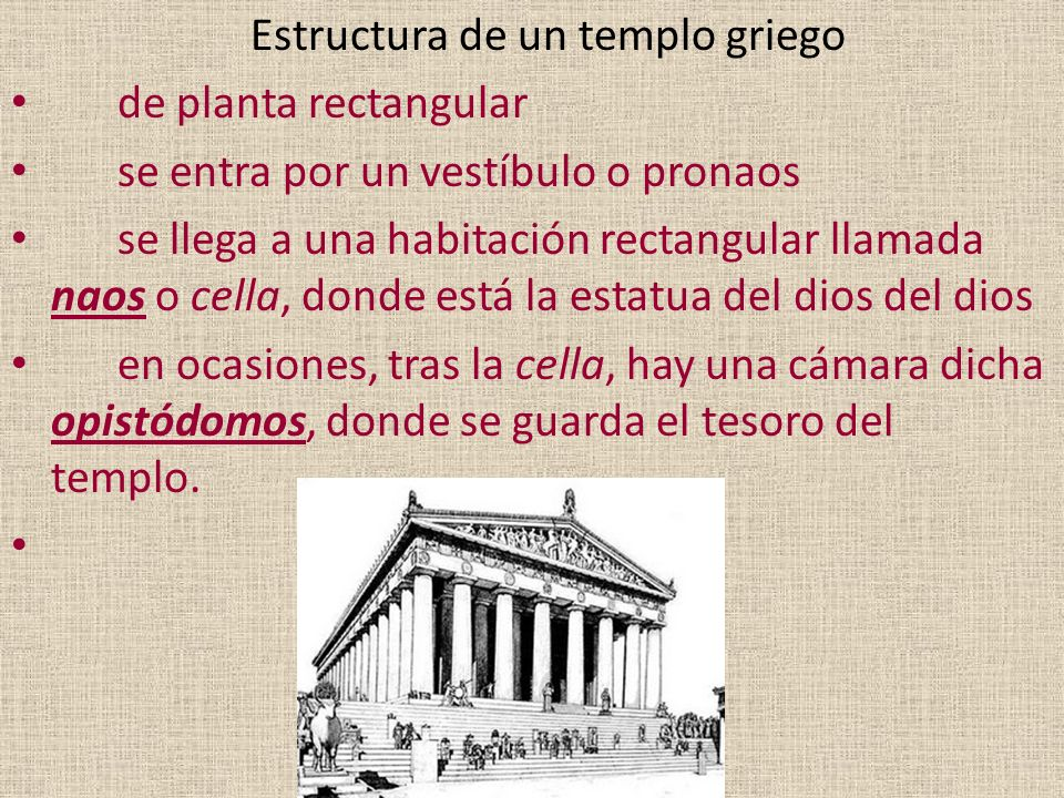 Estructura de un templo griego