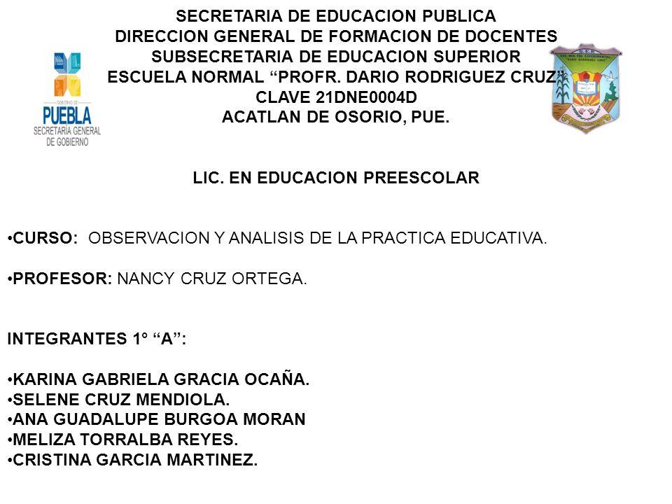 LIC. EN EDUCACION PREESCOLAR