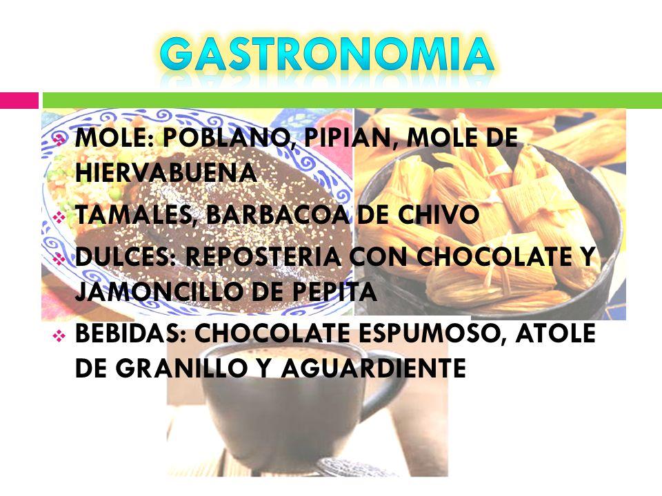 GASTRONOMIA MOLE: POBLANO, PIPIAN, MOLE DE HIERVABUENA