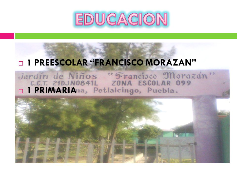 EDUCACION 1 PREESCOLAR FRANCISCO MORAZAN 1 PRIMARIA