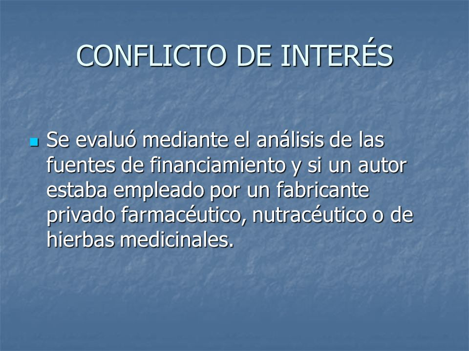 CONFLICTO DE INTERÉS