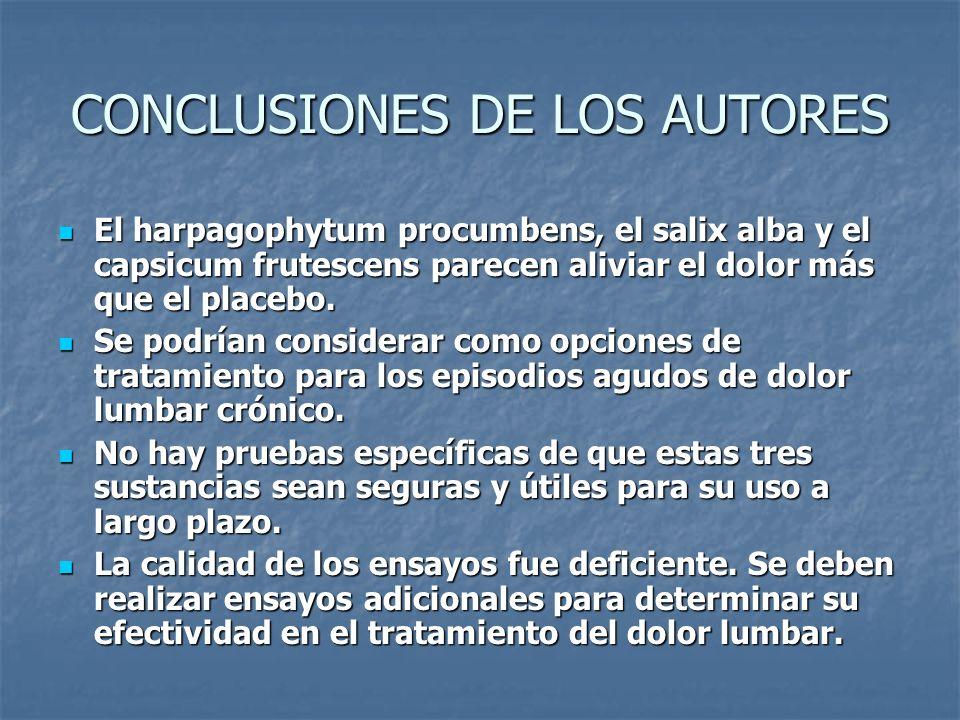 CONCLUSIONES DE LOS AUTORES