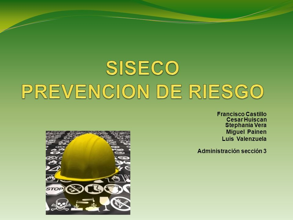 SISECO PREVENCION DE RIESGO
