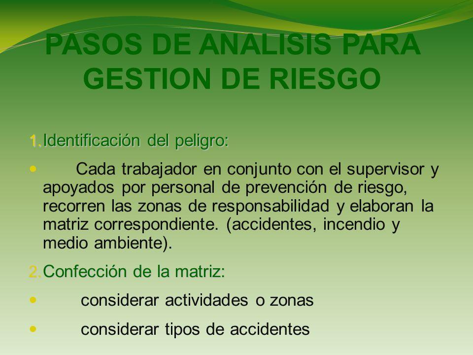 PASOS DE ANALISIS PARA GESTION DE RIESGO