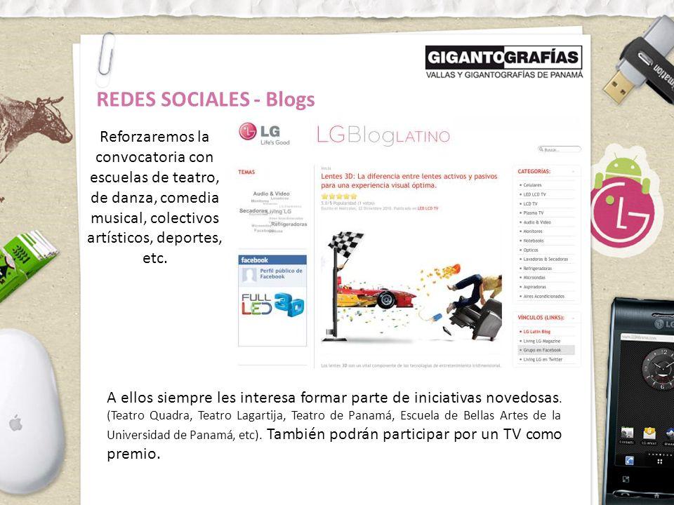 REDES SOCIALES - Blogs Reforzaremos la convocatoria con