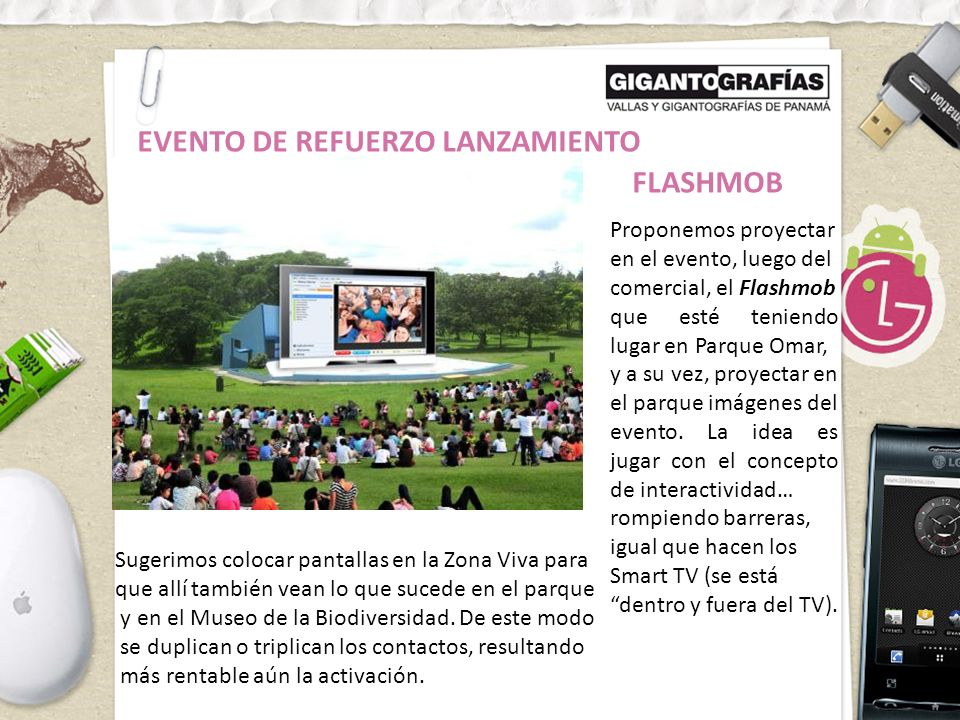 EVENTO DE REFUERZO LANZAMIENTO FLASHMOB
