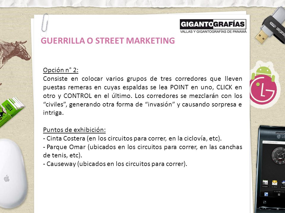 GUERRILLA O STREET MARKETING