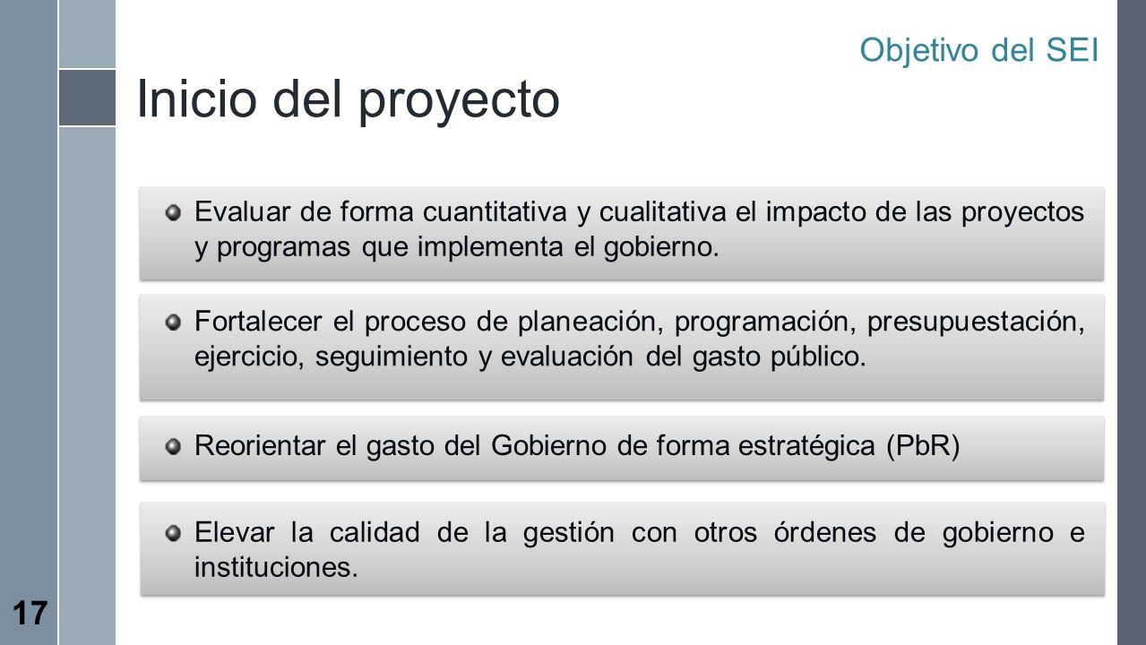 Inicio del proyecto Objetivo del SEI