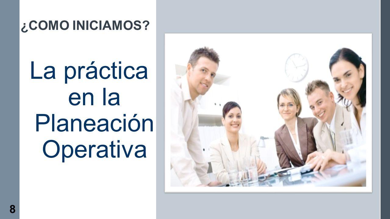 La práctica en la Planeación Operativa