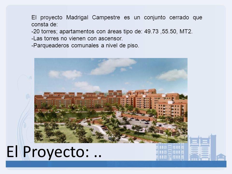El proyecto Madrigal Campestre es un conjunto cerrado que consta de: