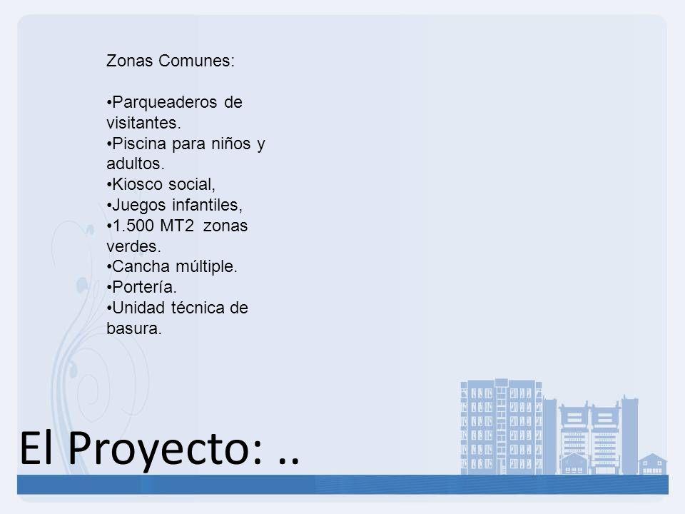 El Proyecto: .. Zonas Comunes: Parqueaderos de visitantes.