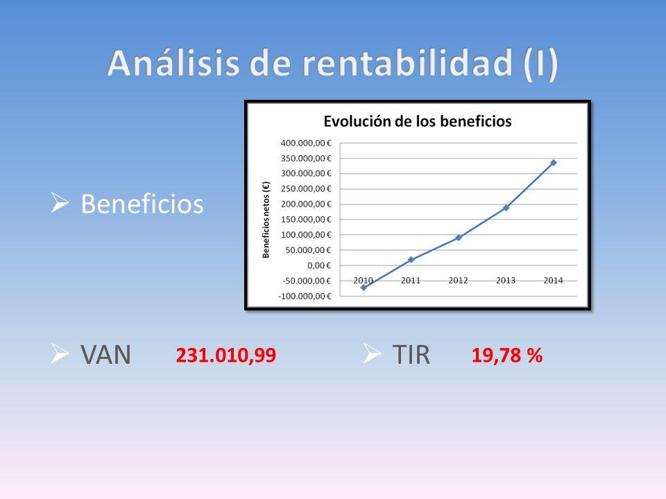 Análisis de rentabilidad (I)