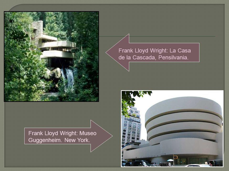 Frank Lloyd Wright: La Casa de la Cascada, Pensilvania.