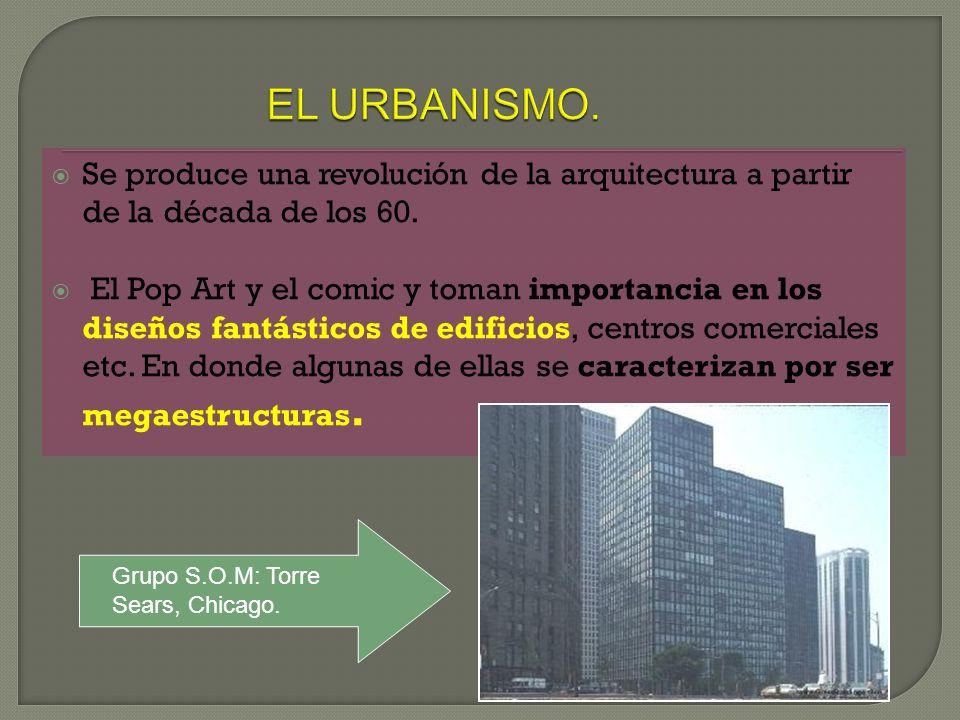 EL URBANISMO. Se produce una revolución de la arquitectura a partir de la década de los 60.