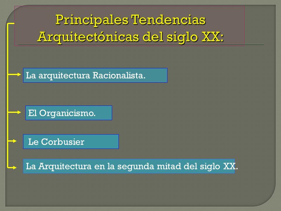 Principales Tendencias Arquitectónicas del siglo XX: