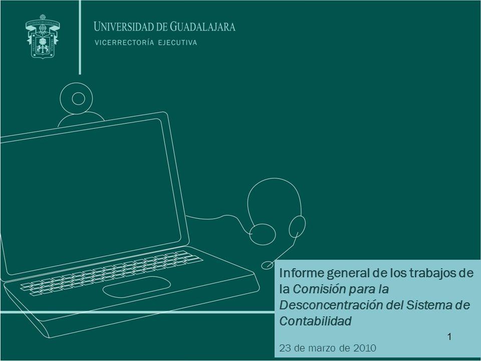 Informe general de los trabajos de la Comisión para la Desconcentración del Sistema de Contabilidad
