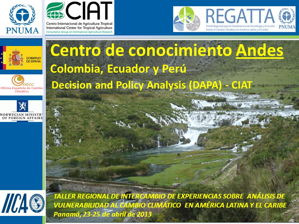 Centro de conocimiento Andes Colombia, Ecuador y Perú