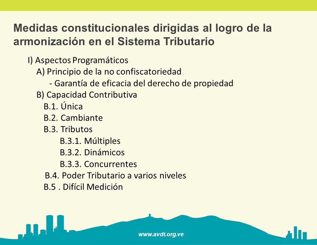 Medidas constitucionales dirigidas al logro de la armonización en el Sistema Tributario