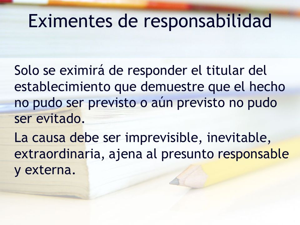 Eximentes de responsabilidad