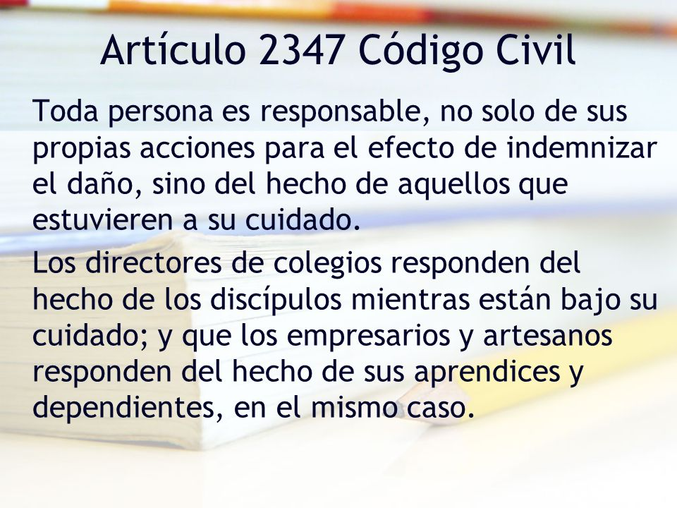 Artículo 2347 Código Civil