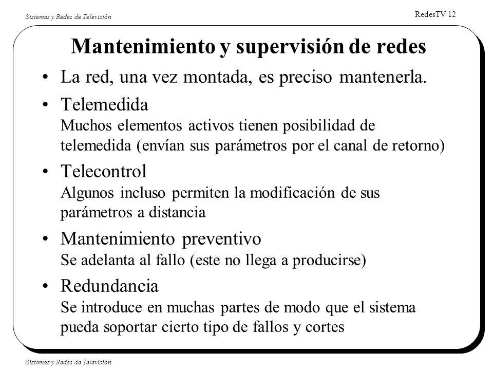 Mantenimiento y supervisión de redes
