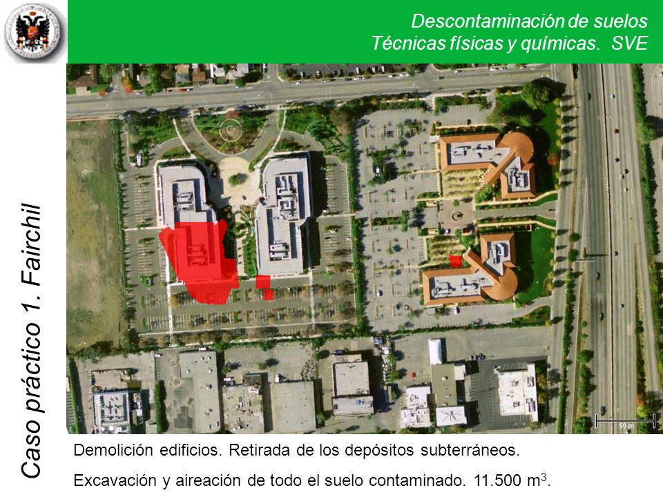 Demolición edificios. Retirada de los depósitos subterráneos.