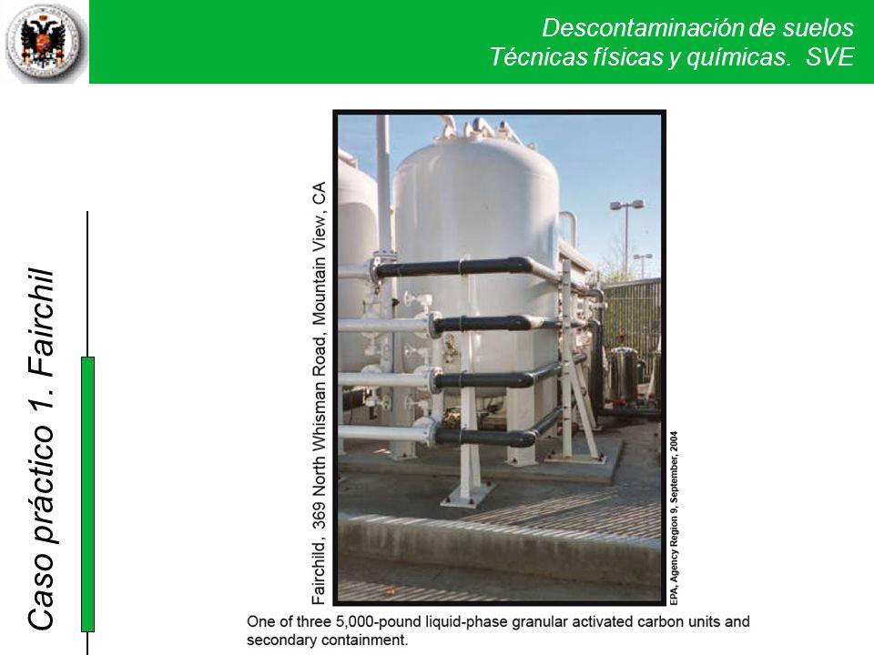 Para la depuración de los vapores extraídos se utilizaron 5 unidades de carbón activo con una capacidad de 1.300 kg.