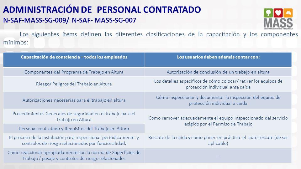 ADMINISTRACIÓN DE PERSONAL CONTRATADO