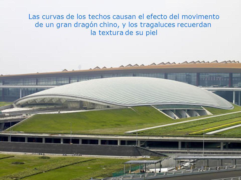 Las curvas de los techos causan el efecto del movimento