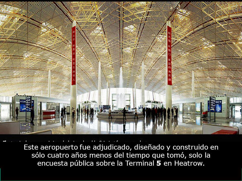 Este aeropuerto fue adjudicado, diseñado y construido en sólo cuatro años menos del tiempo que tomó, solo la encuesta pública sobre la Terminal 5 en Heatrow.