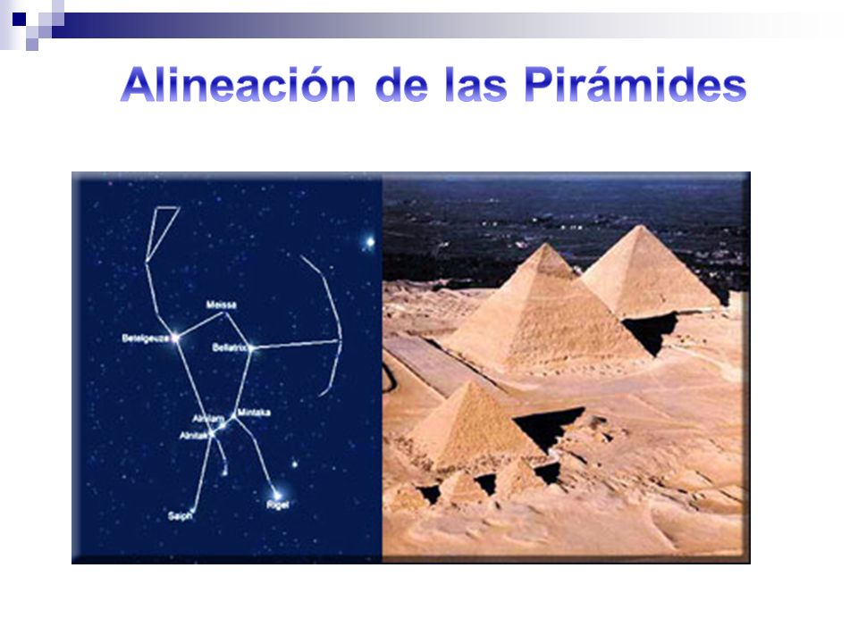 Alineación de las Pirámides