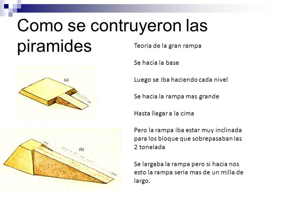 Como se contruyeron las piramides