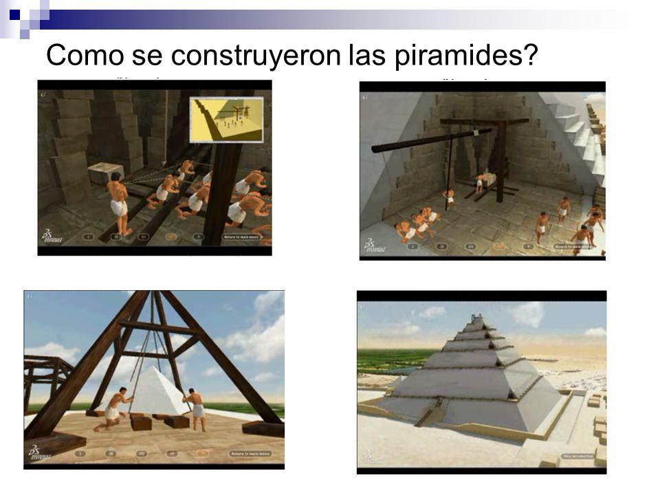 Como se construyeron las piramides