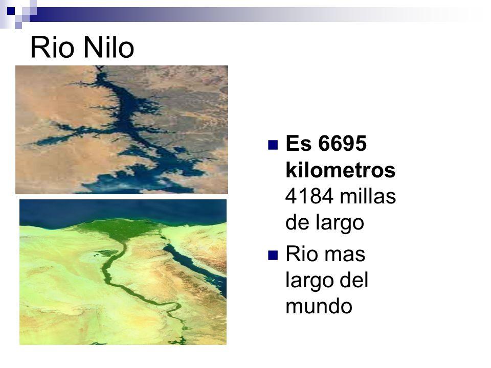 Rio Nilo Es 6695 kilometros 4184 millas de largo