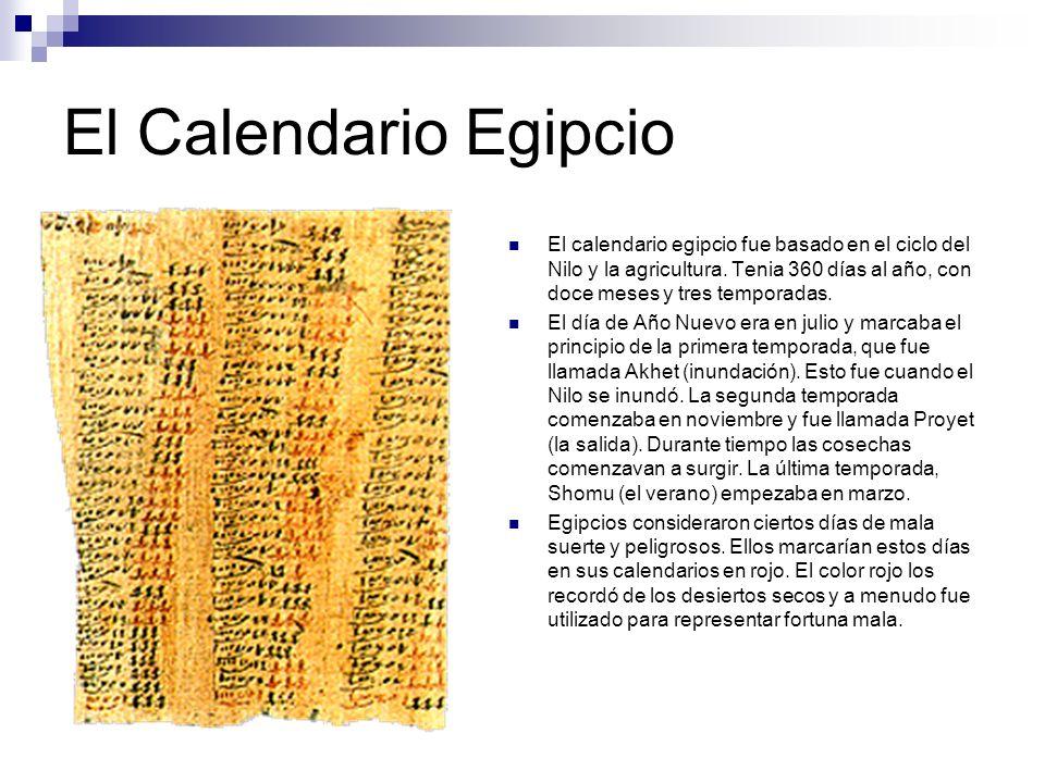 El Calendario Egipcio