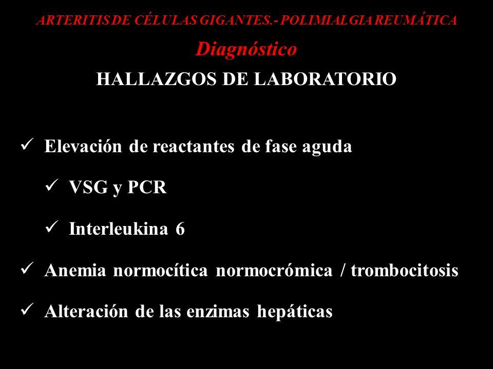 Diagnóstico HALLAZGOS DE LABORATORIO