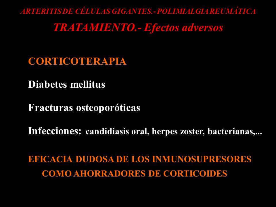 TRATAMIENTO.- Efectos adversos