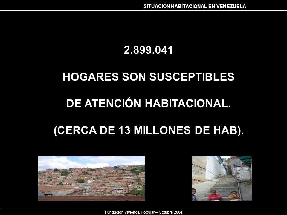 HOGARES SON SUSCEPTIBLES DE ATENCIÓN HABITACIONAL.