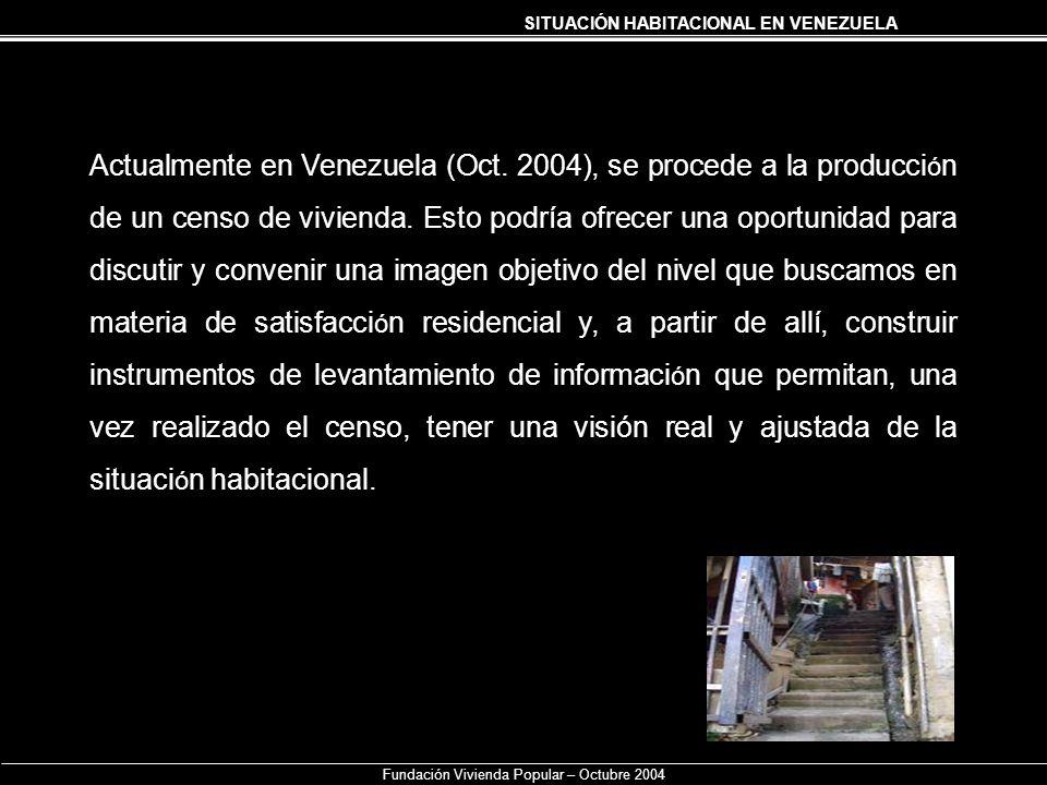Fundación Vivienda Popular – Octubre 2004