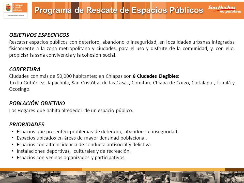Programa de Rescate de Espacios Públicos