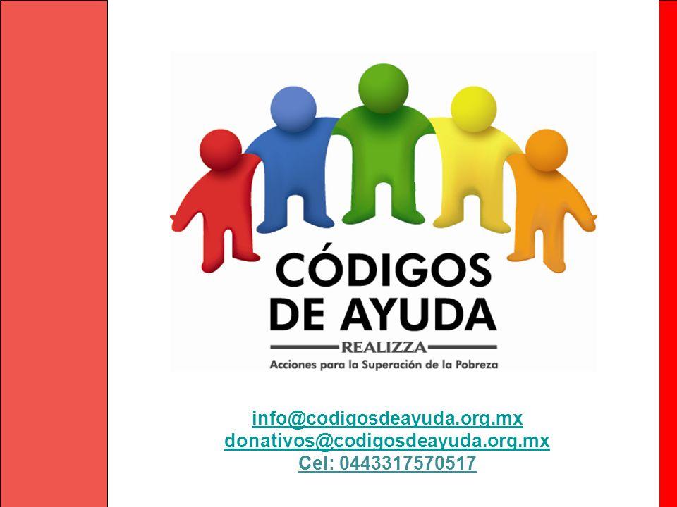 info@codigosdeayuda.org.mx donativos@codigosdeayuda.org.mx